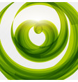 green heart shape eco friendly background vector image