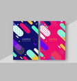 minimal cover design annual report magazine vector image