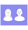 smiling people icons vector image