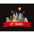 World landmarks sticker icons set vector image