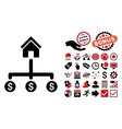 Building Payments Flat Icon with Bonus vector image