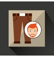 face man bearded clothes brown pants hipster vector image