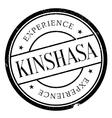 Kinshasa stamp rubber grunge vector image