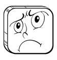A sad face vector image vector image