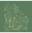 Green pea sketch vector image