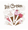 beauty ice cream vector image