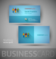 Business card template - vector image vector image