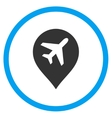 Airport Marker Circled Icon vector image