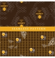 set seamless pattern for honey product vector image vector image