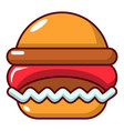 burger icon cartoon style vector image