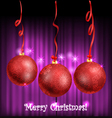 Christmas balls with ornament vector image
