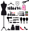 fashion and beauty set vector image