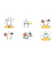 flat design set of intuition insight vector image