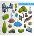 Garden Park Elements Transperent Set vector image