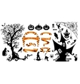 Happy Halloween background with holiday symbols vector image