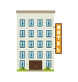 hotel building property vector image