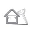 Keys and House isolated vector image