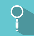magnifying glass icon on green background vector image