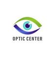 optic medical eye logo vector image