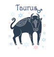 Taurus sign in horoscope vector image