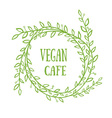 Vegan cafe vector image