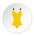 yellow swimsuit icon circle vector image