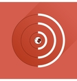 Flat icon with long shadow Globe internet vector image