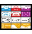 collection of glamorous business cards vector image vector image