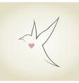 Heart a bird5 vector image vector image