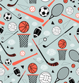 pattern of sporting goods vector image