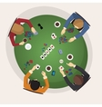 Home game gambling friendly tournament three of vector image