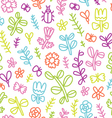 Summer flowers butterflies and beetles colorful vector image vector image