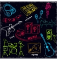 Abstract Music Background with musical instruments vector image vector image