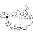 Cartoon Stegosaurus Running vector image