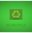 Eco background Recycle sign on a green card with vector image