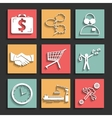 flat business icons for web and mobile vector image