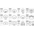 Hi-Tech line icon set vector image