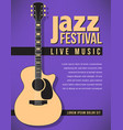 jazz festival music background vector image