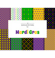Mardi Gras pattern backgrounds vector image