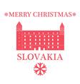Merry Christmas Slovakia vector image