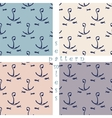 set of seamless sea pattern vector image