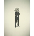 Cat Businessman vector image