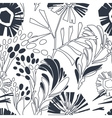Vintage floral seamless pattern with hand drawn vector image vector image
