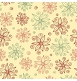 Beautiful doodle flowers seamless pattern vector image