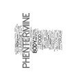 get your look slim with phentermine text vector image