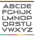 Display sans serif font vector image