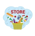 Purchase food products vector image