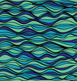 hand-drawn pattern waves background vector image