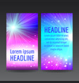 abstract colorful flyer templates vector image