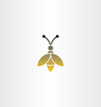 bee sign logo icon vector image